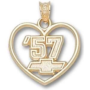 Logo Art 57 Chevy Heart 10K Pendant   Chevy One Size