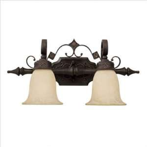 Capital Lighting   1902RI 294   River Crest Two Light Bath Vanity with