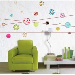 Design Ball Deco Mural Wall Paper Sticker KR 0014