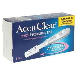 Accu Clear Early Pregnancy Test   1 ea: Health & Personal