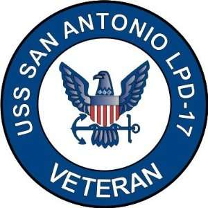 US Navy USS San Antonio LPD 17 Ship Veteran Decal Sticker