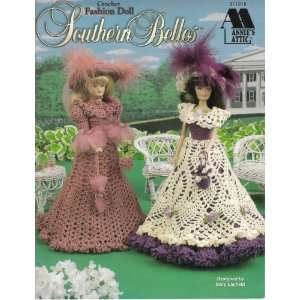 Southern Belles Crochet Fashion Doll Patterns Arts, Crafts & Sewing
