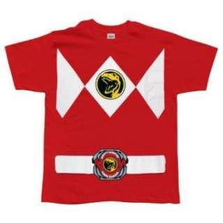Power Rangers   Red Ranger T Shirt Clothing