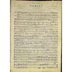 Hamlewt Music Score Opera French Print 1868: Home & Kitchen