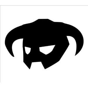 Elder Scrolls Skyrim Dragonborn Helm Vinyl Die Cut Decal