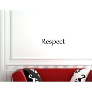 Respect   Vinyl Wall Lettering Quotes and Sayings Home Art Decor Decal