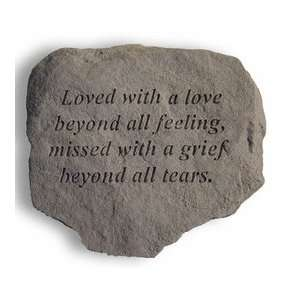 Loved With A Love Memorial Stone: Patio, Lawn & Garden