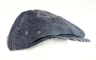 True Religion Jeans Driver CAP DENIM IVY hat pinstripe