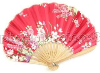 Silk Hand Fan Little Vintage Pattern Folding Fans #3212