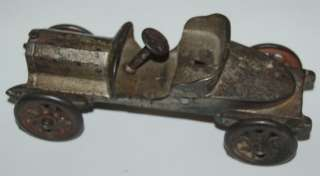 ANTIQUE EARLY 1900S CAST IRON MODEL CAR TOY