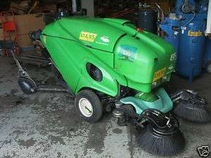 THE GREEN MACHINE DIESEL POWERED SWEEPER MODEL 414RS