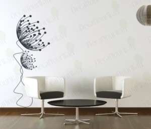 Flower Dandelion Wall Art Decals Decor Vinyl Stickers