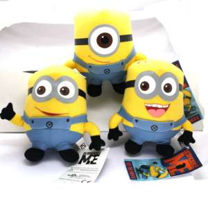Despicable Me Minions Dave Stuart Jorge Stuffed Plush Dolls Set of 3