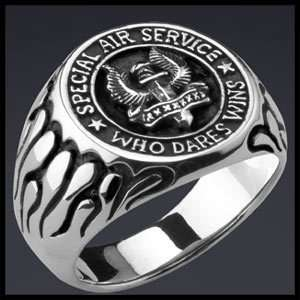 SPECIAL FORCES   SPECIAL AIR SERVICE SAS SILVER RING