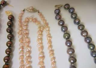Lot of 12 PEARL NECKLACE Bracelet Earrings Ring 10k 14k GOLD Sterling