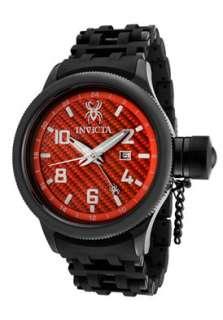 Invicta Watch 0563 Mens Russian Diver Red Carbon Fiber Dial Black