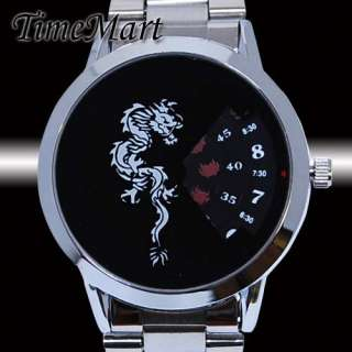Dragon Logo Mens Unique Design Quartz Wrist Watch New
