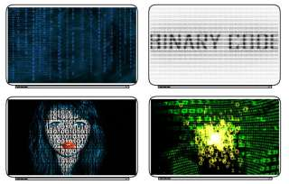 Zero One Binary Code Laptop Netbook Skin Cover Sticker
