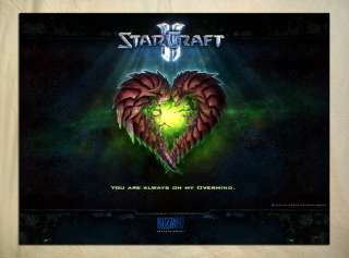 BS10 Starcraft 2 Zerg Love Valentine Holiday 32x24 Poster NEW