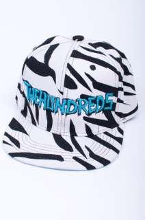 THE HUNDREDS BLACK WHITE ZEBRA PRINT PATTERN LOGO HAT CAP SNAPBACK