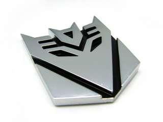 Car Transformer Decepticon Autobot Chrome Emblem Badge