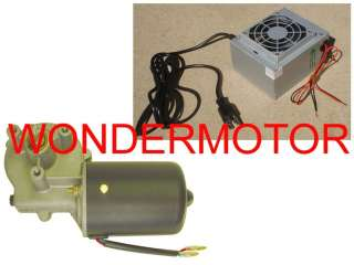 Electric Gear Motor 12v Gearmotor DC + Power Supply 115v/230v