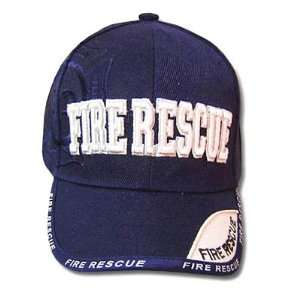 NAVY BLUE FIRE RESCUE YOUTH KIDS BASEBALL CAP HAT SMALL