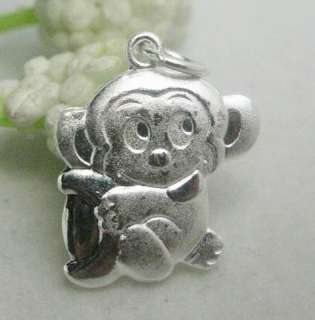 Solid Chinese 12 Years 925 Sterling Silver Charm Pendant Fit Bracelet