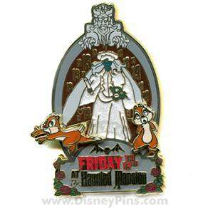 CHIP DALE Friday The 13TH HAUNTED MANSION LE Disney Pin