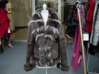 Beyonce Dereon Brown Broadtail Fox Jacket Shear Rabbit