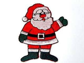 SANTA CLAUSE CHRISTMAS IRON ON PATCH EMBROIDERED I151