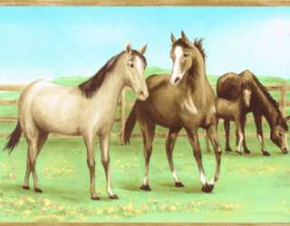 HORSES & COLTS KIDS 9 WIDE IN THE PASTER Wallpaper bordeR Wall