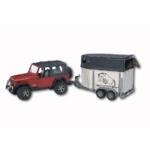 Jeep Wrangler Unlimited W. Horse Trailer Incl. 1 Horse: Toys & Games