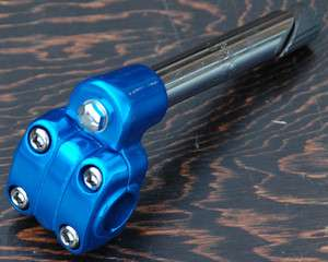 Blue Alloy 13/16 Old School BMX Bike 4 Bolt Quill Stem Cruiser