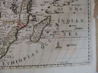 Authentic Antique 17th Century Map of Africa Richard Blome 1669