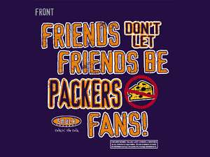 CHICAGO BEARS   FRIENDS   ANTI PACKERS SUCKS SHIRT