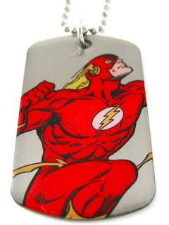 Flash Fastest Man Alive Dog Tag & Chain Necklace