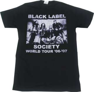 Zakk Wylde BLS Black Label Society World Tour Shirt