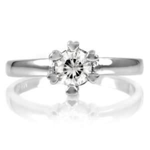 Andys Promise Ring   Heart Prong CZ   .75 Ct: Jewelry