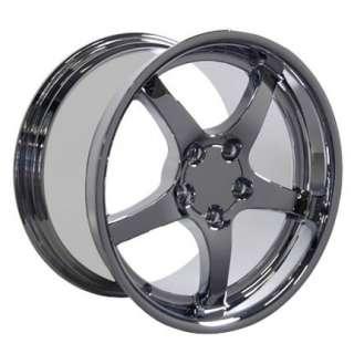 17x9.5 18x10.5 Chrome C5 Wheels Rims Tires Fit Camaro