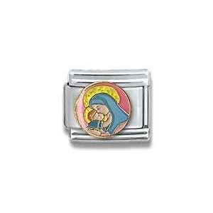 with Infant Jesus, Christian, Religious Theme Italian Charm Jewelry