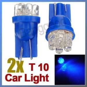 2x Blue 7 LED T10 Wedge Car Light Bulbs 194 168 W5W 501