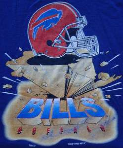 Vtg Buffalo Bills 1995 Earthquake Design T Shirt XL