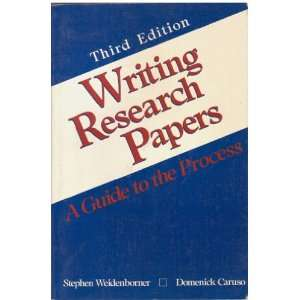 Writing research papers: A guide to the process