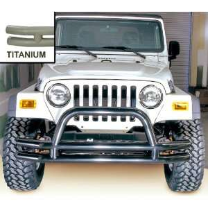 TUBE BUMPER; TITANIUM; 76 06 CJ; JEEP WRANGLER/UNLIMITED: Automotive