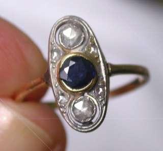 Antique 1920s Art Deco 18k White/Yellow Gold White Rose Cut Diamond 0