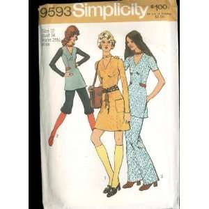 Vintage 1971 Simplicity Pattern 9593   Misses Mini Dress
