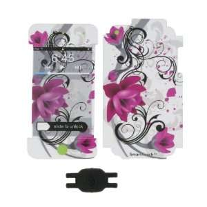 with Red Flower Design Smart Touch Shield Decal Sticker and Wallpaper