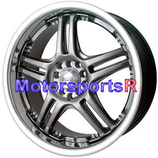 20 20x7.5 XXR 502 Chromium Black wheels Rims 08 Acura TSX 03 TL 06 RSX