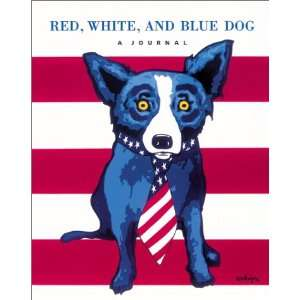 , White, and Blue Dog : A Journal: George Rodrigue:  Books